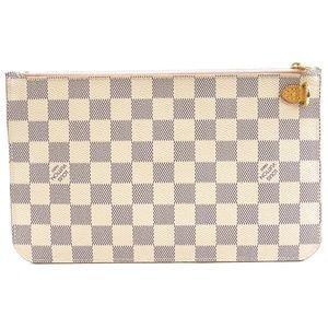 Louis Vuitton Bags - Neverfull Pochette XL Damier Azur Canvas Clutch